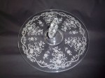 Fostoria ROMANCE Etched Center Handle Server Tray