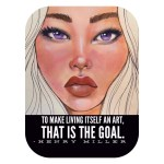 Sticker- Amethyst with Henry Miller quote