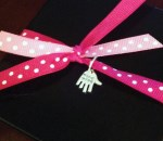 Gift box with Ribbon and Hand Made Tag