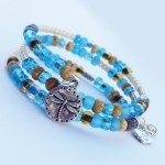 WaterTones and DragonFly Expanadble Wire Bracelet