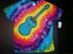 XL Blue Electric Guitar Tie-dye