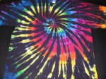 5XL Black Rainbow Spiral tie-dye