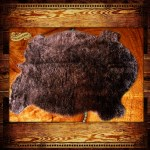 Brown Plains Buffalo Hide Faux Fur Area Rug