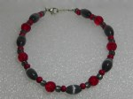 Thin Red & Grey Wired Bracelet